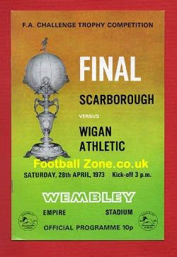 Scarborough v Wigan Athletic 1973 FA Challenge Trophy Final