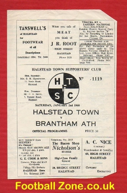 Halstead Town v Brantham Athletic 1960