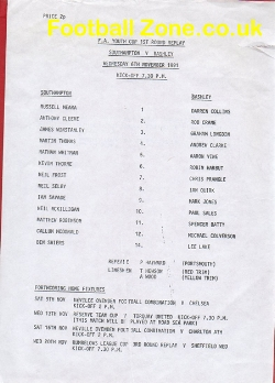 Southampton v Bashley 1991 - FA Youth Cup Replay