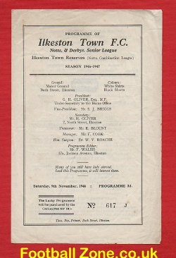 Ilkeston Town v New Haugton Villa 1946