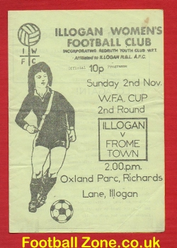 Illogan Ladies v Frome Town 1980 - Womens Football Match