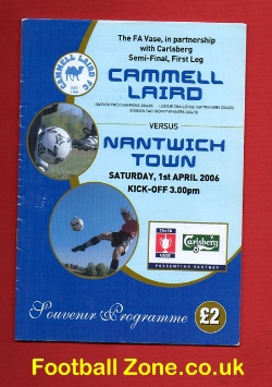 Cammell Laird v Nantwich Town 2006 - Multi Autographed