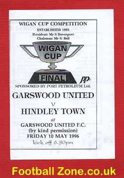 Garswood United v Hindley Town 1996 - Wigan Cup