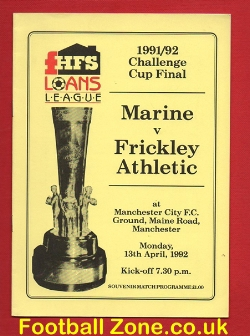 Marine Athletic v Frickley Athletic 1992 - Played at Man City