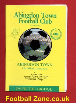 Abingdon Town v Witham Town 1991 Semi Final