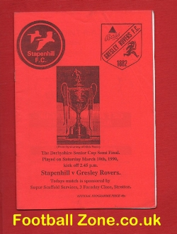 Stapenhill v Gresley Rovers 1990 - Senior Cup Semi Final