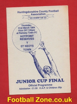 Hotpoint Reserves v St Neots Town 1994 - Junior Cup Final