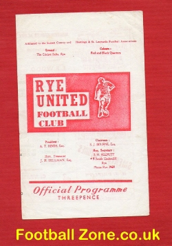 Rye United v Bexhill Town 1967 - Sussex Senior Cup