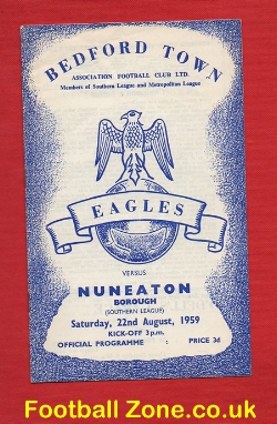Bedworth Town v Nuneaton Borough 1959
