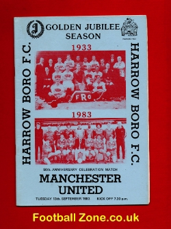 Harrow Borough v Man Utd 1983 - Anniversary Celebration