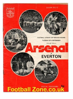 Arsenal v Everton 1972 - Autographed Signed by Alan Ball