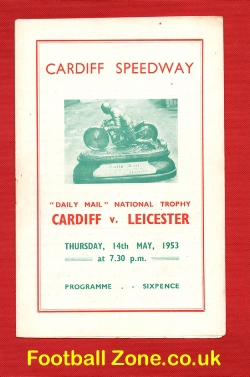 Cardiff Speedway v Leicester 1953 - National Trophy