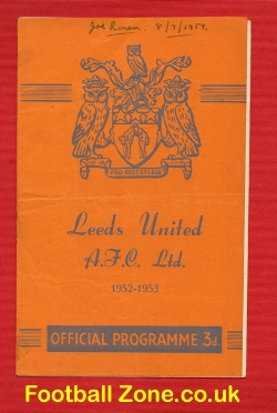 Army v FA X1 1952 - at Leeds + Meadows Man City