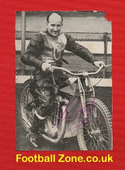 Harringay Speedway Lloyd Goffe Signed Picture 1940s