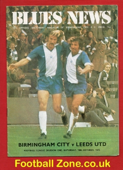 Birmingham City v Leeds United 1975