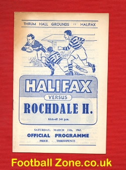Halifax Rugby v Rochdale Hornets 1961
