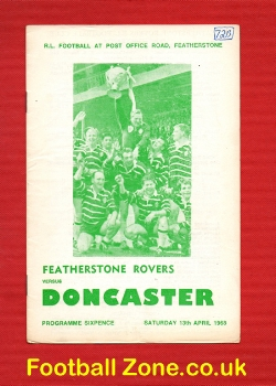Featherstone Rovers Rugby v Doncaster 1968