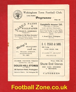 Wokingham Town v Briton Ferry Athletic 1954