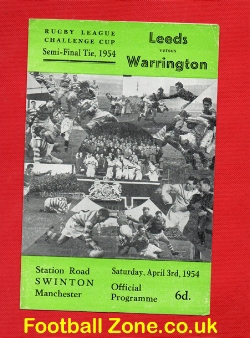 Leeds Rugby v Warrington 1954 - Rugby Challenge Cup Semi Final