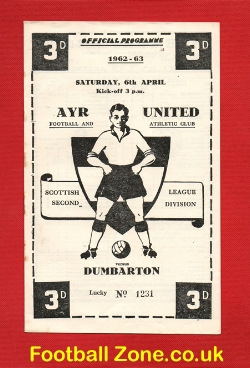Ayr United v Dumbarton 1963