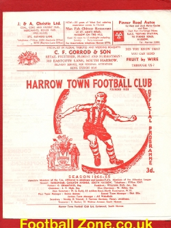 Harrow Town v Barnet 1964 - Senior Cup