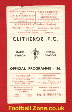 Clitheroe v Guinness Exports 1965 - Friendly Match