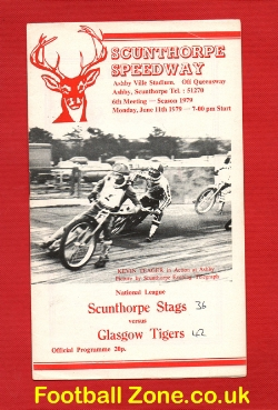 Scunthorpe Speedway v Glasgow Tigers 1979