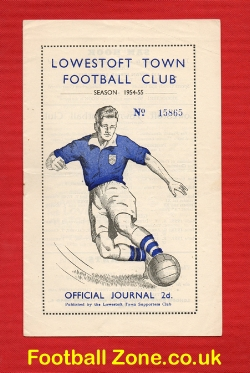 Lowestoft Town v Harrow Town 1955
