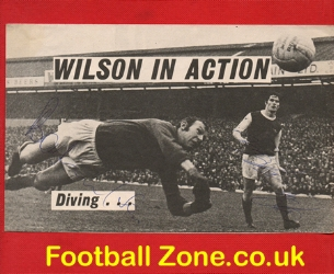 Arsenal Bob Wilson Signed Picture + Pat Rice