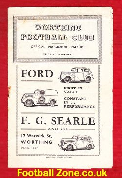 Worthing Town v Southwick 1948 - 1940s Football Programme