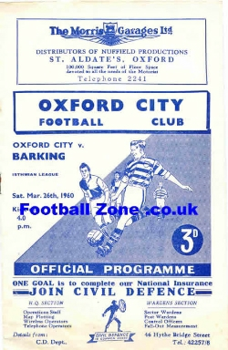 Oxford City v Barking 1960