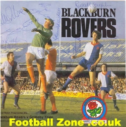 Blackburn Rovers v Grimsby Town 1980 + Autographs