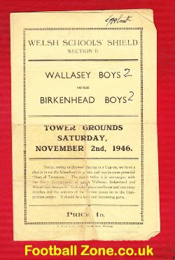 Wallasey v Birkenhead Boys 1946 - Towers Grounds Liverpool