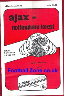 Ajax v Nottingham Forest 1979 - European Cup