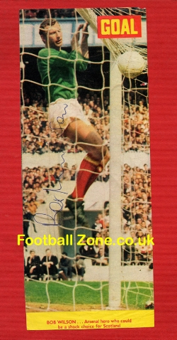 Arsenal Bob Wilson Signed Picture - Goalie