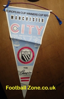 Manchester City Football Pennant ECWC Champions 1970