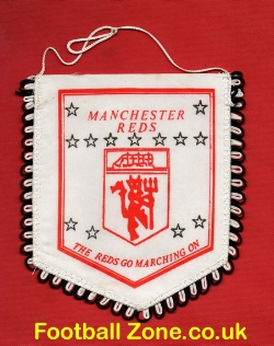 Manchester United Football Pennant 1980s