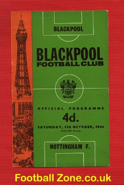 Blackpool v Nottingham Forest 1963