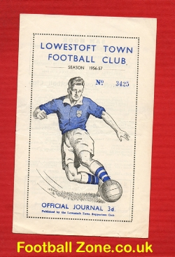 Lowestoft Town v Leiston 1956 - Multi Autographed Signed