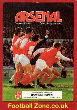 Arsenal v Ipswich Town 1974 - Signed by Bobby Robson
