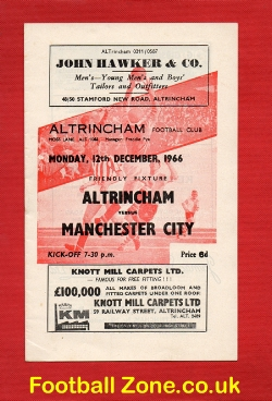 Altrincham v Man City 1966 - Friendly Match