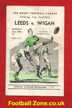 Leeds Rugby v Wigan 1966 - Rugby Challenge Cup Semi Final