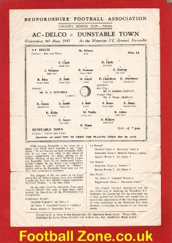 AC Delco v Dunstable Town 1957 - Senior Cup Final at Waterlow