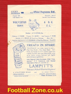 Wolverton Town v Briggs Sports 1955