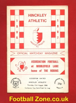 Hinckley Athletic v Leicester United 1986 - Semi Final 1st Leg
