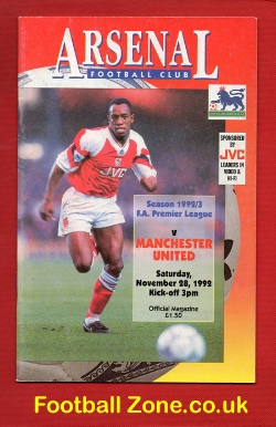 Arsenal v Man Utd 1992