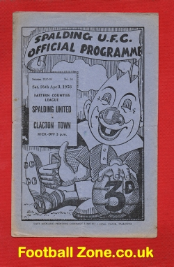 Spalding United v Clacton Town 1958