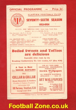 Clapton v Oxford City 1953