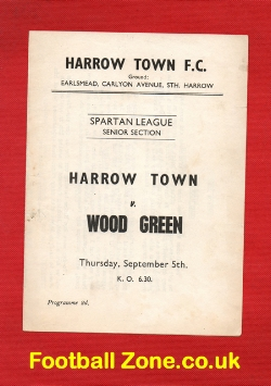 Harrow Town v Wood Green 1950s