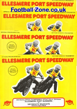 Ellesmere Speedway Programmes Collection of 1970s X 4